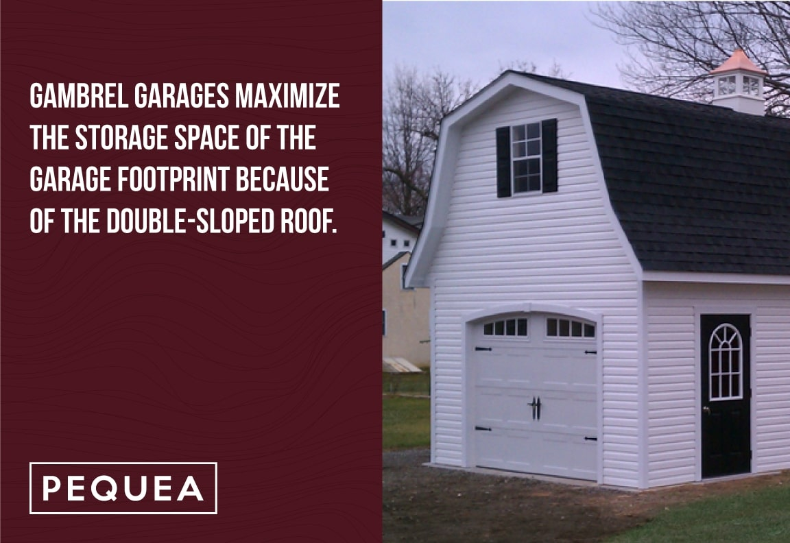 gambrel garages maximize storage space